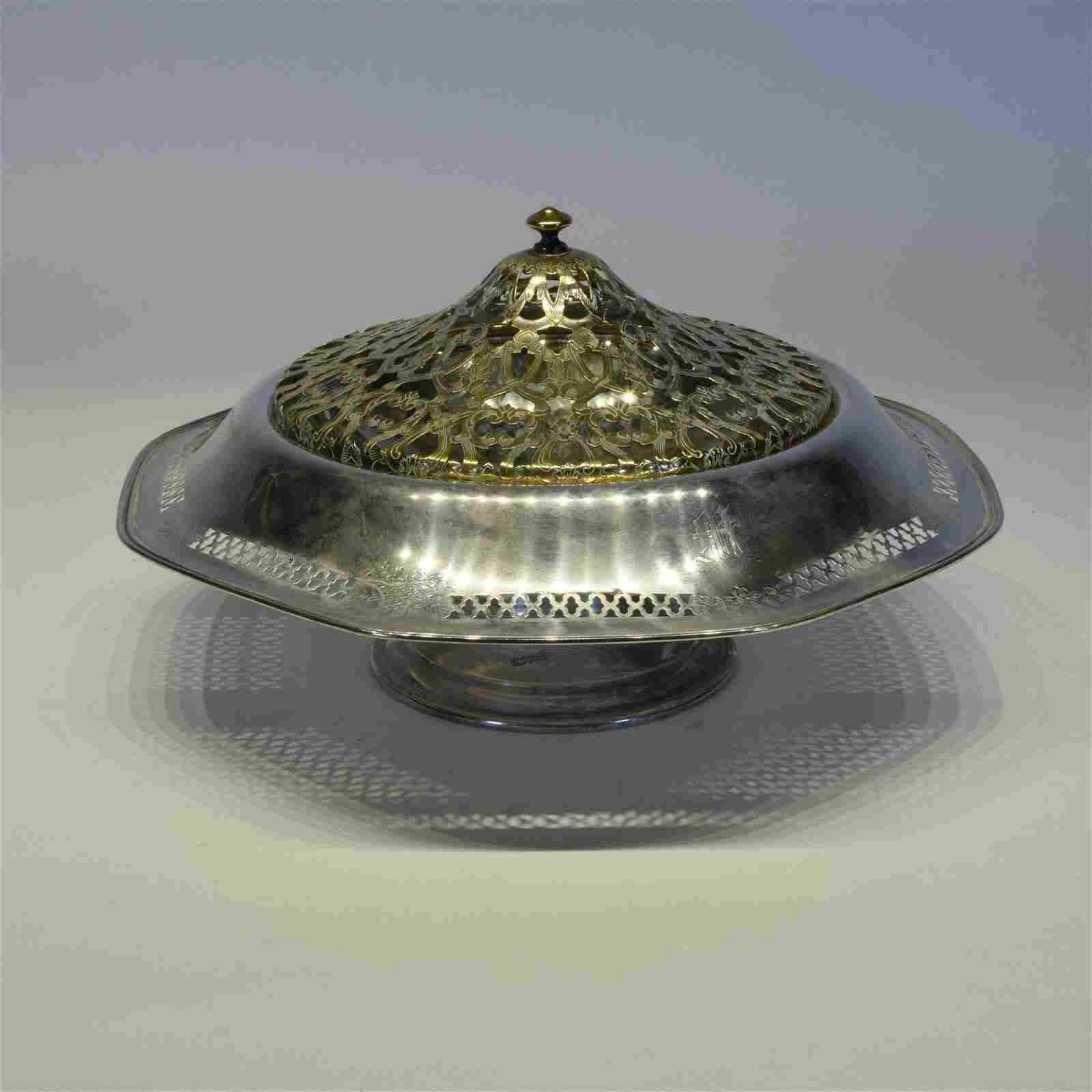 Sterling Silver Server With Openwork Cover