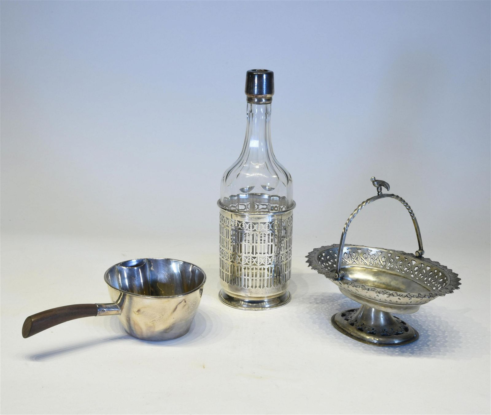 Three Silver Tableware Objects