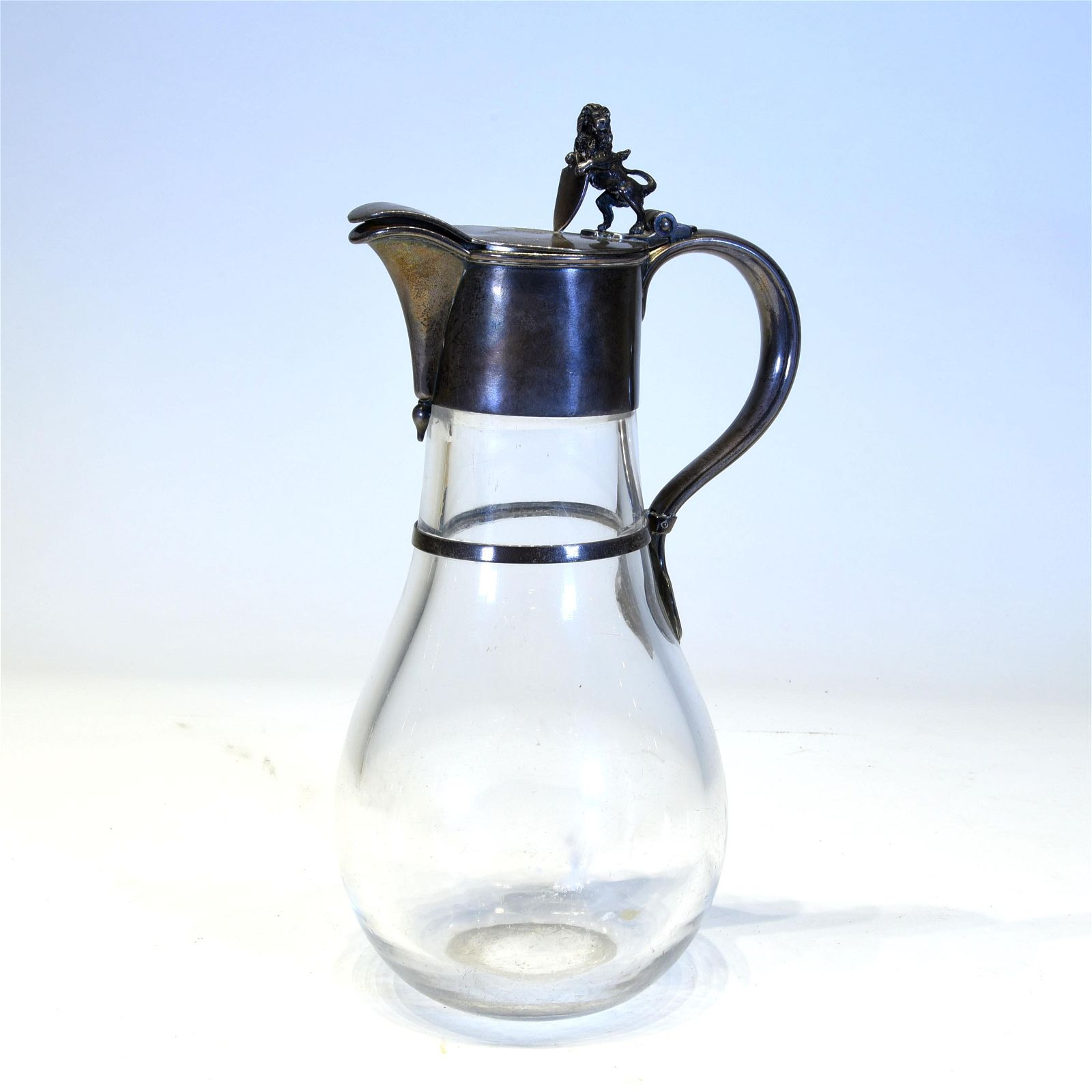 Tiffany Silver & Glass Water Pitcher