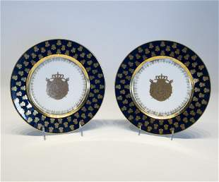 Pair of Napoleonic Sevres Plate
