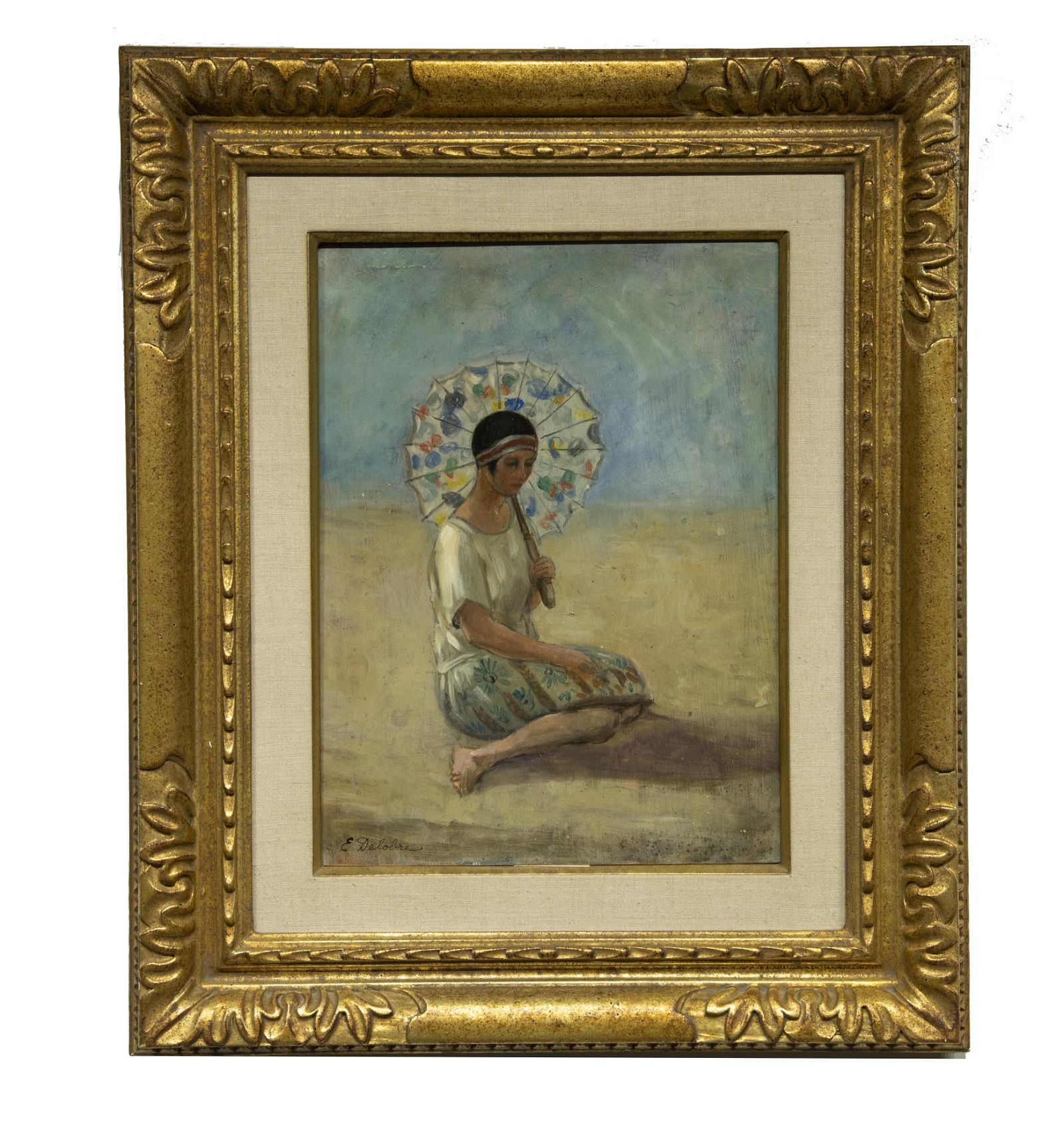 Emile Delobre (1873-1956) Impressionist, Oil On Board