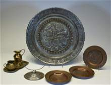 Lot of Metal Objects and Tableware