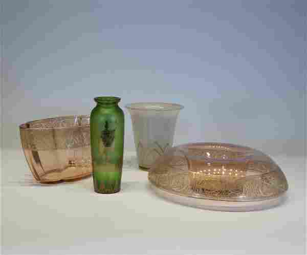 Lot of Bohemian Glass Tableware Objects