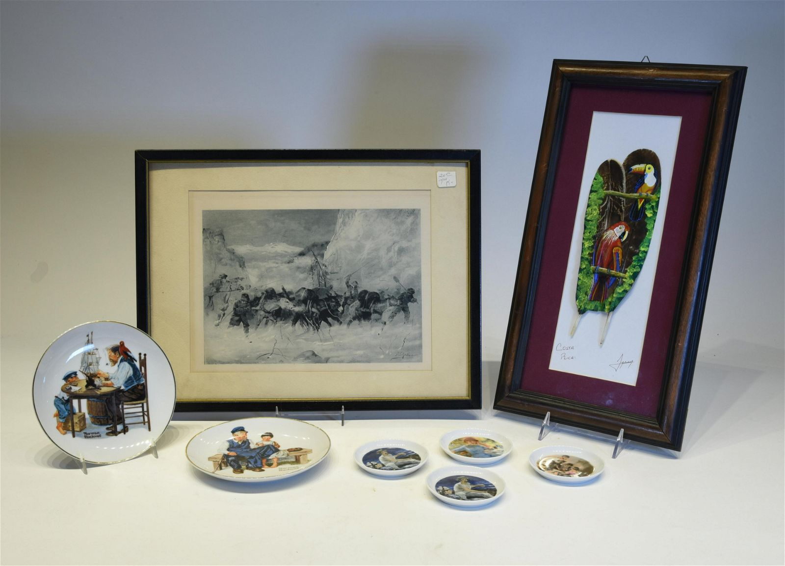 Two Norman Rockwell Plates, An Engraving and more