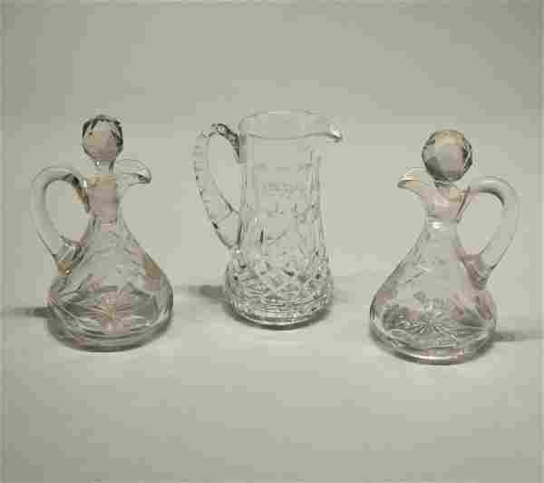 Three Crystal Ewers