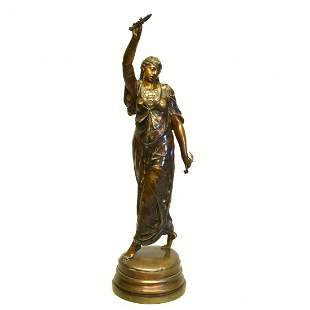 Orientalist Bronze Figure of a Woman