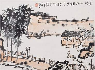 A CHINESE SCROLL PAINTING, AFTER PAN TIAN SHOU