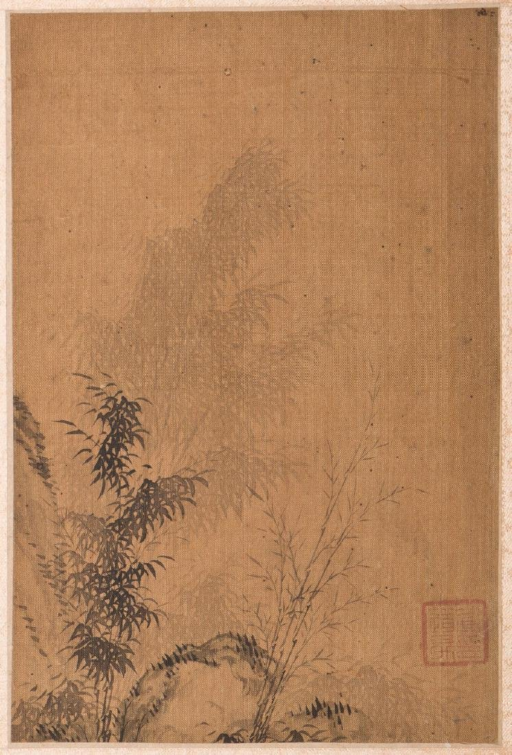 A CHINESE PAINTING OF BAMBOO MOTIF