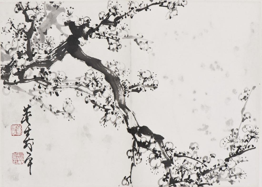 A CHINESE PAINTING OF PLUM FLOWERS