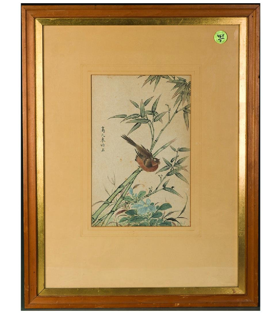 A FRAMED PAINTING, SOTHEBY'S