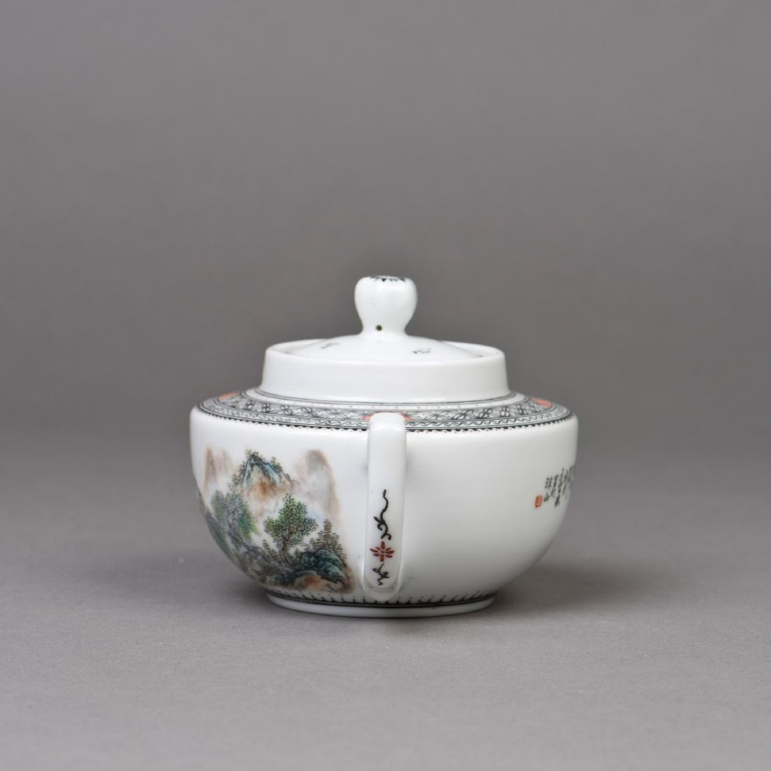 A CHINESE PORCELAIN TEAPOT - 4