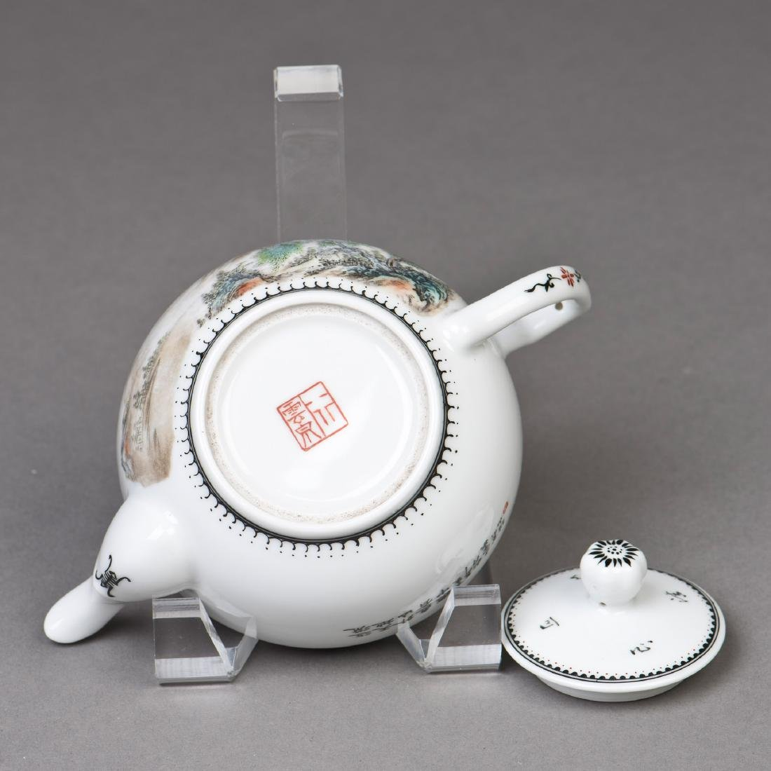 A CHINESE PORCELAIN TEAPOT - 6