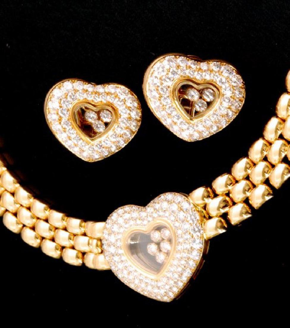 Chopard 18K Gold & Diamonds Jewelry Set Certified