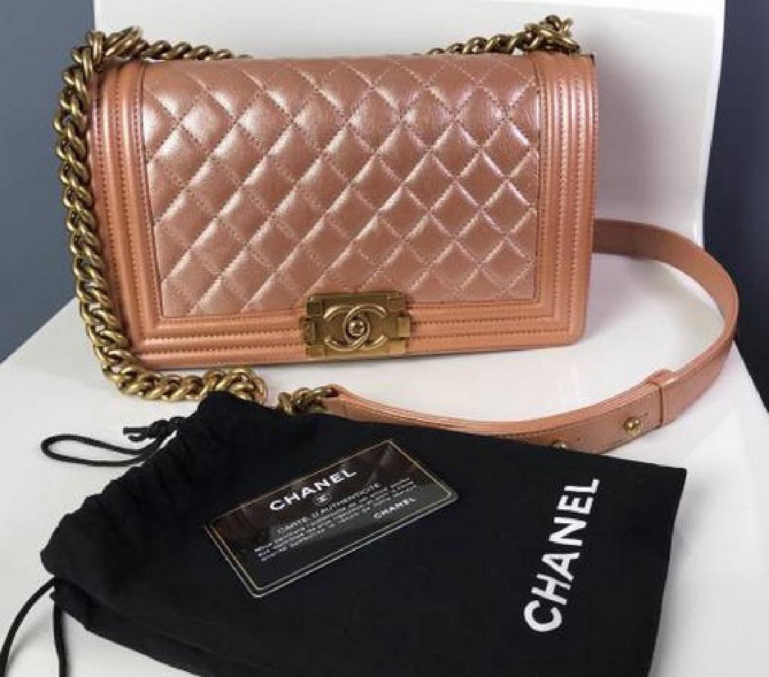 Authentic Chanel Boy Handbag