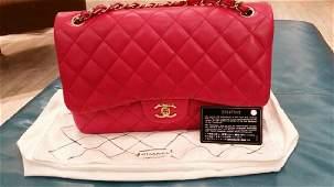 Chanel Classic Lambskin Handbag w. Auth Card c2015