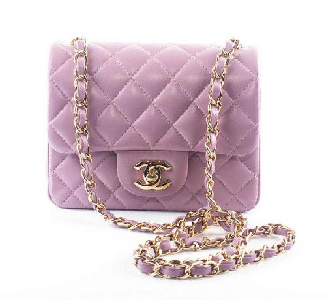 29dca5503c5c CHANEL Lambskin Quilted Mini Square Flap Light Pink