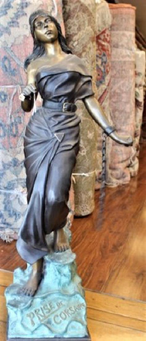 Antique French Bronze Sculpture by Villanis 33-lbs, 37""