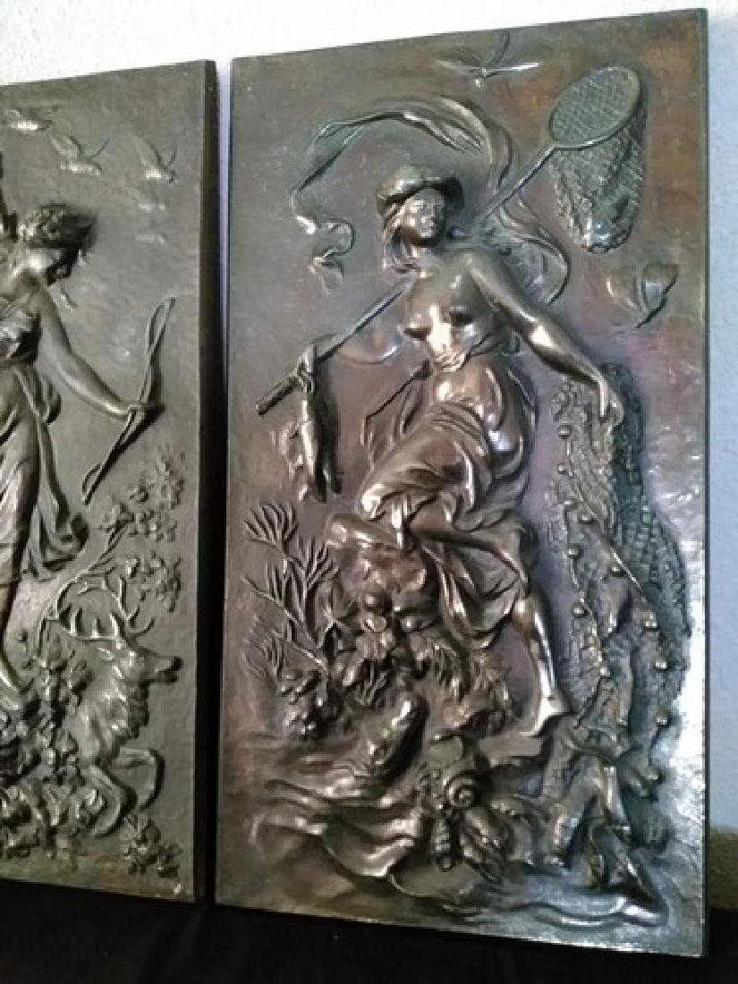 "17"" ea Antique Bronze Goddess Wall Plaques"