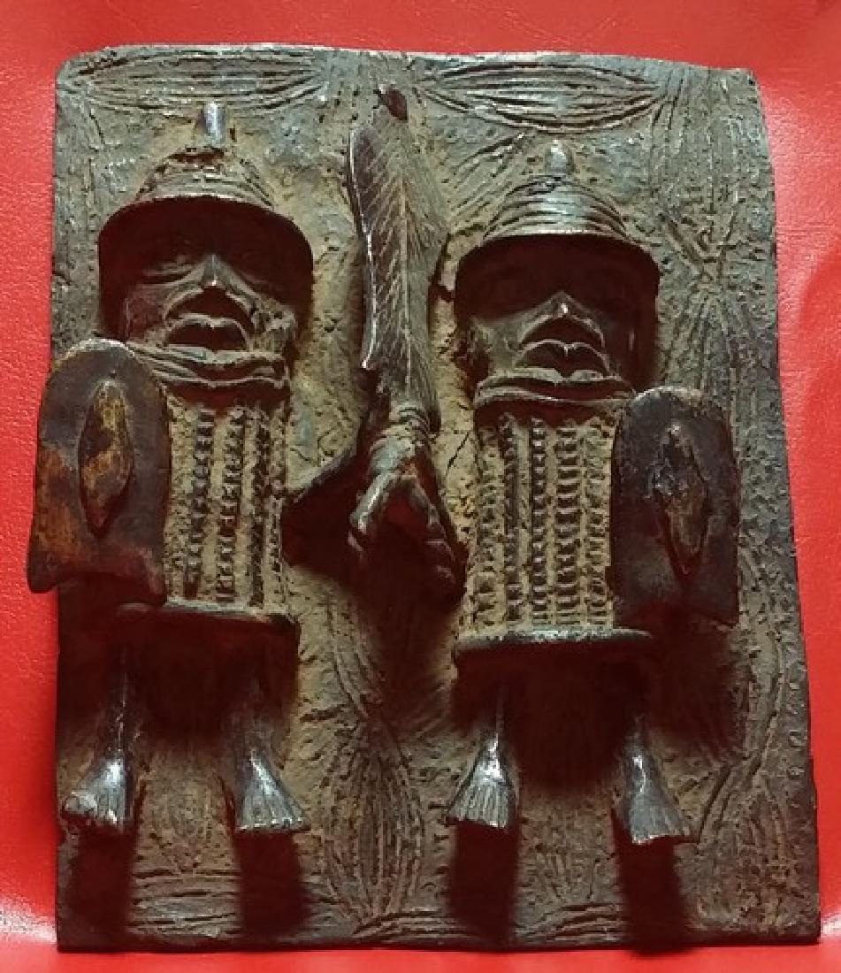 African Benin Bronze Plaque
