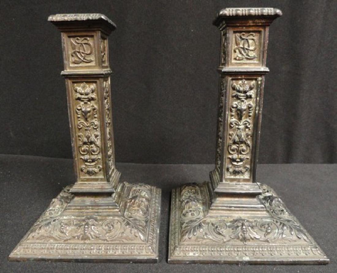 Antique Bronze Candlesticks