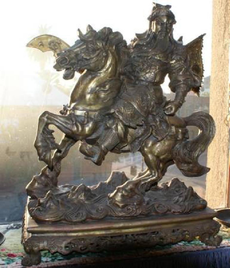 Antique First Republic Period Chinese Bronze Sculpture