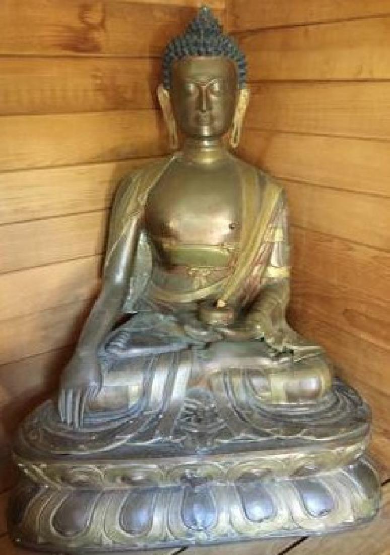 "Bronze Buddha 28""h x 24""w"