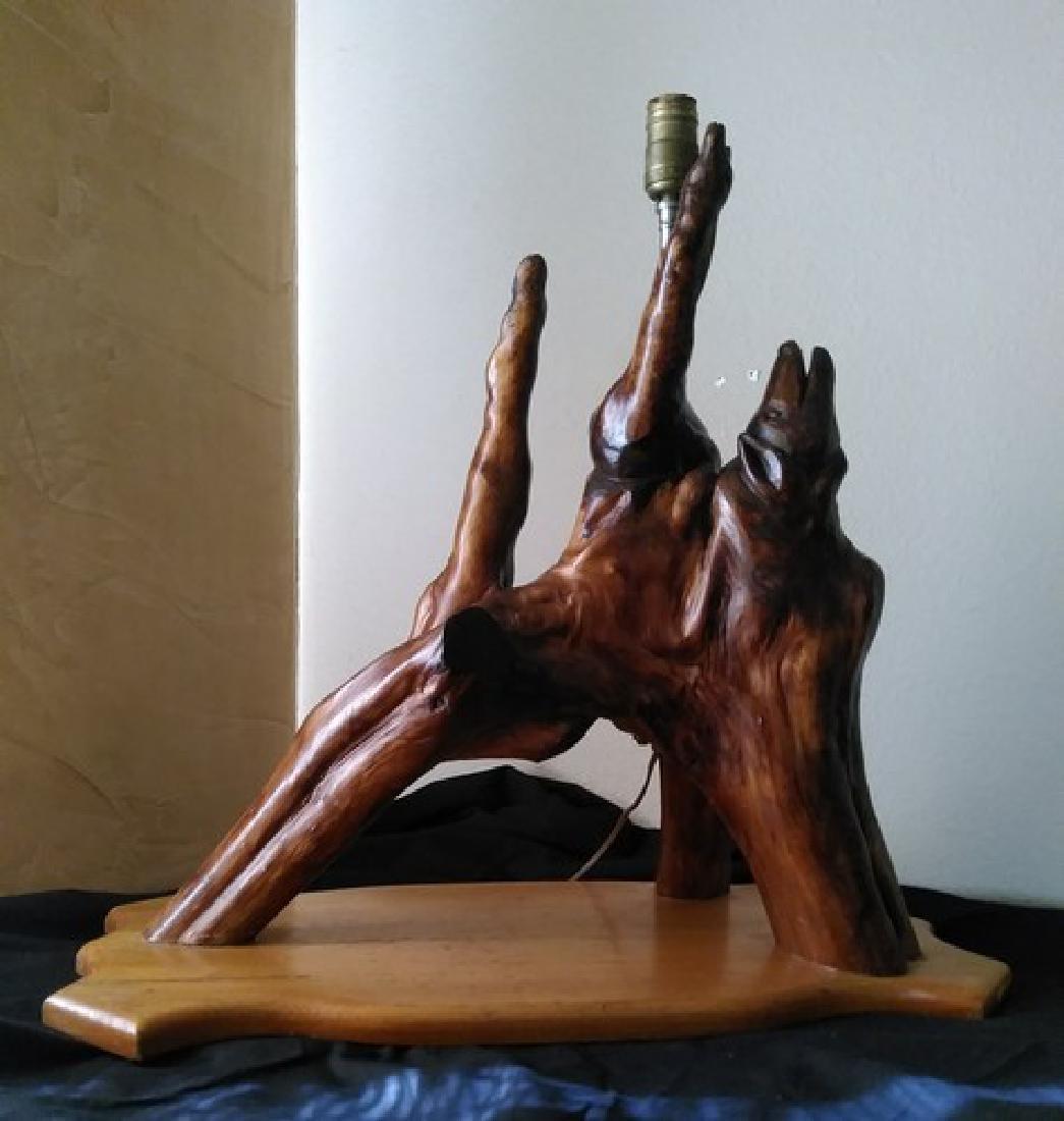 "23"" Fine Mid Century Driftwood Lamp Sculpture"