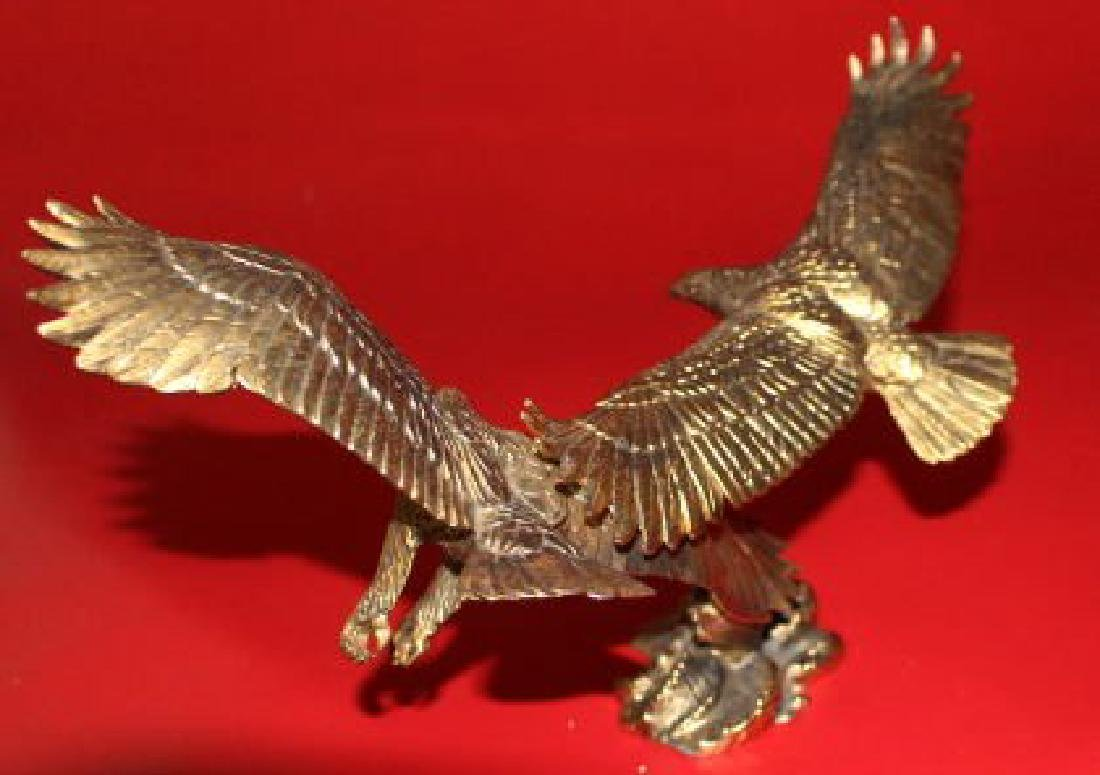 """24K Gold Double Eagle Sculptures """"Freedom and Justice"""