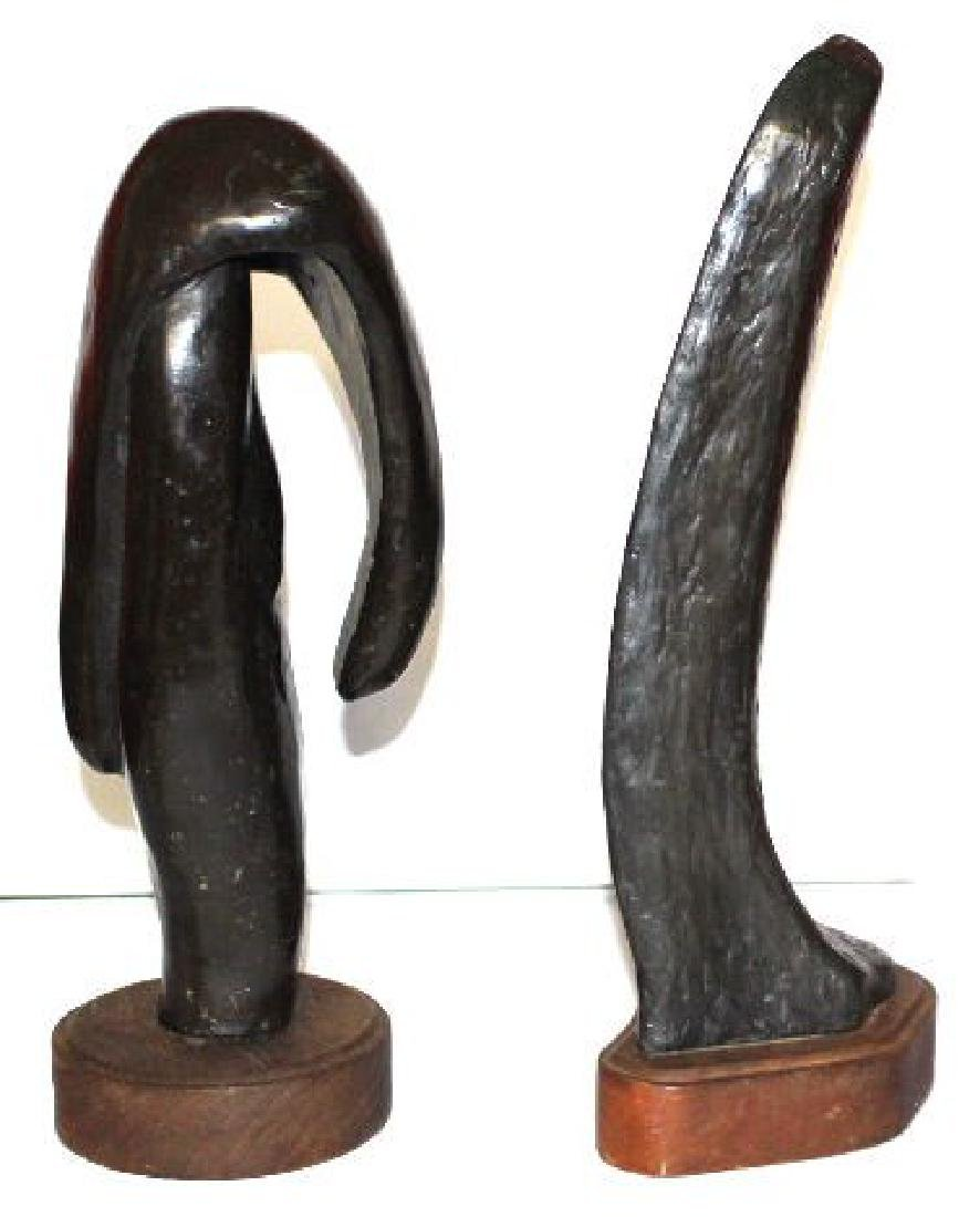 Large Vintage Abstract Art Bronze Sculptures 28-lbs
