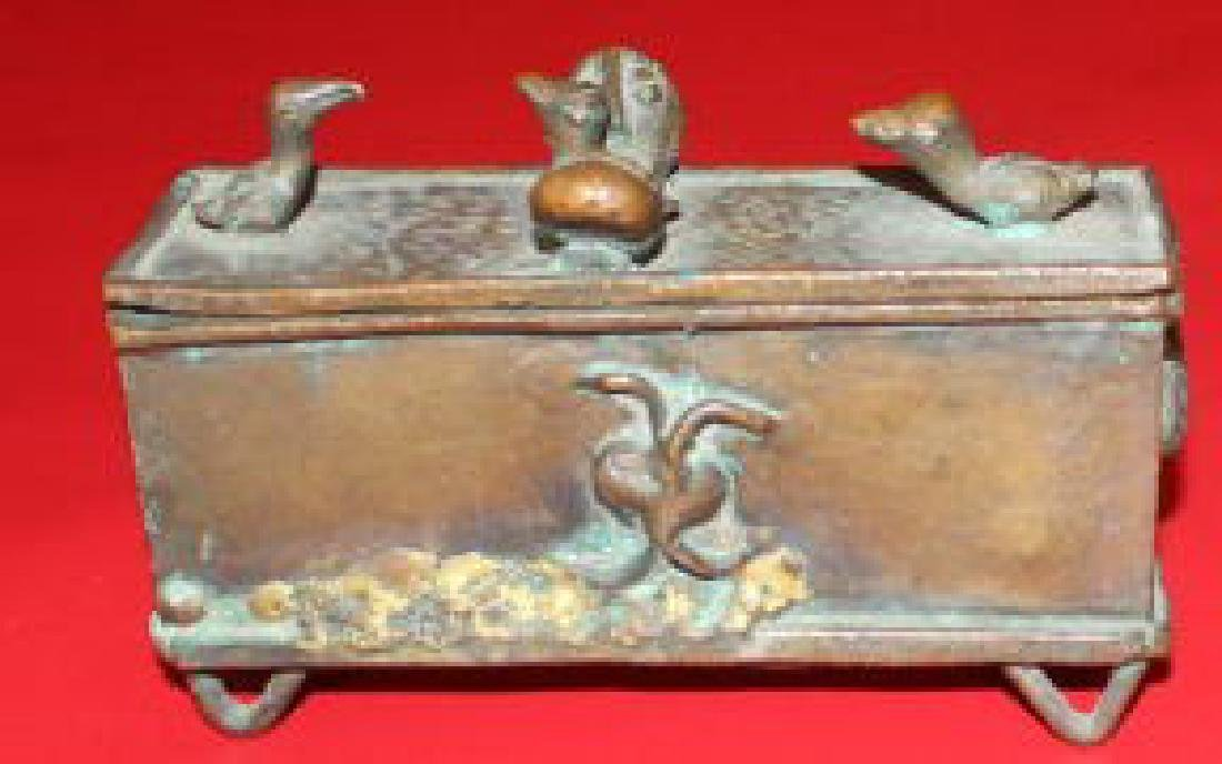 Old Mughal Bronze Trinket Box