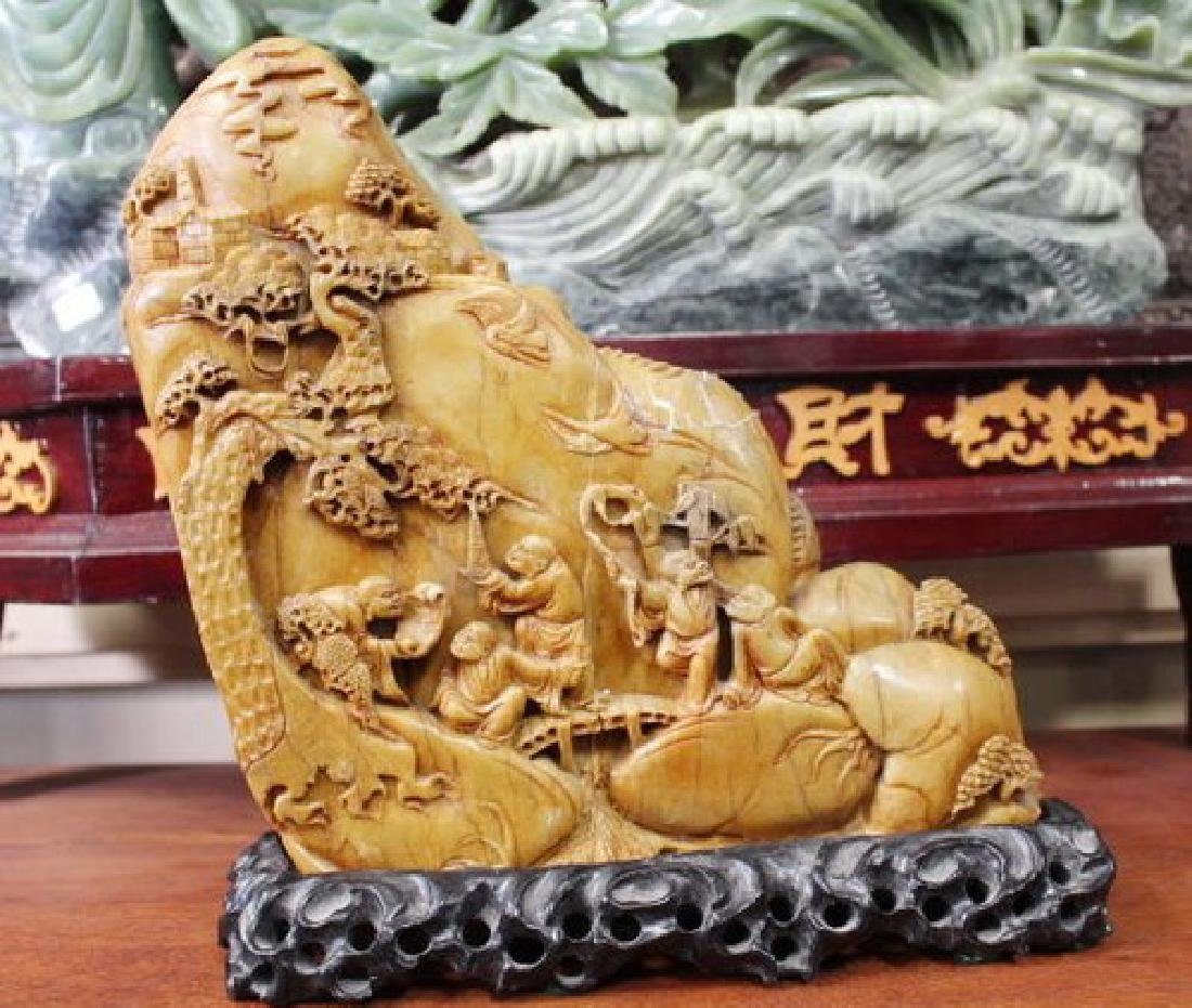 Old Chinese Rustic Red Jadeite Sculpture