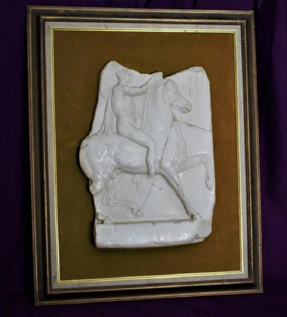 Old Horse & Ridder Sculpture 28', 18-lbs