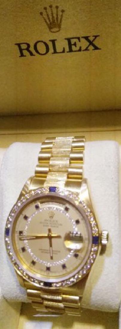 18K Gold Rolex Presidential Day-Date w. Diamonds &