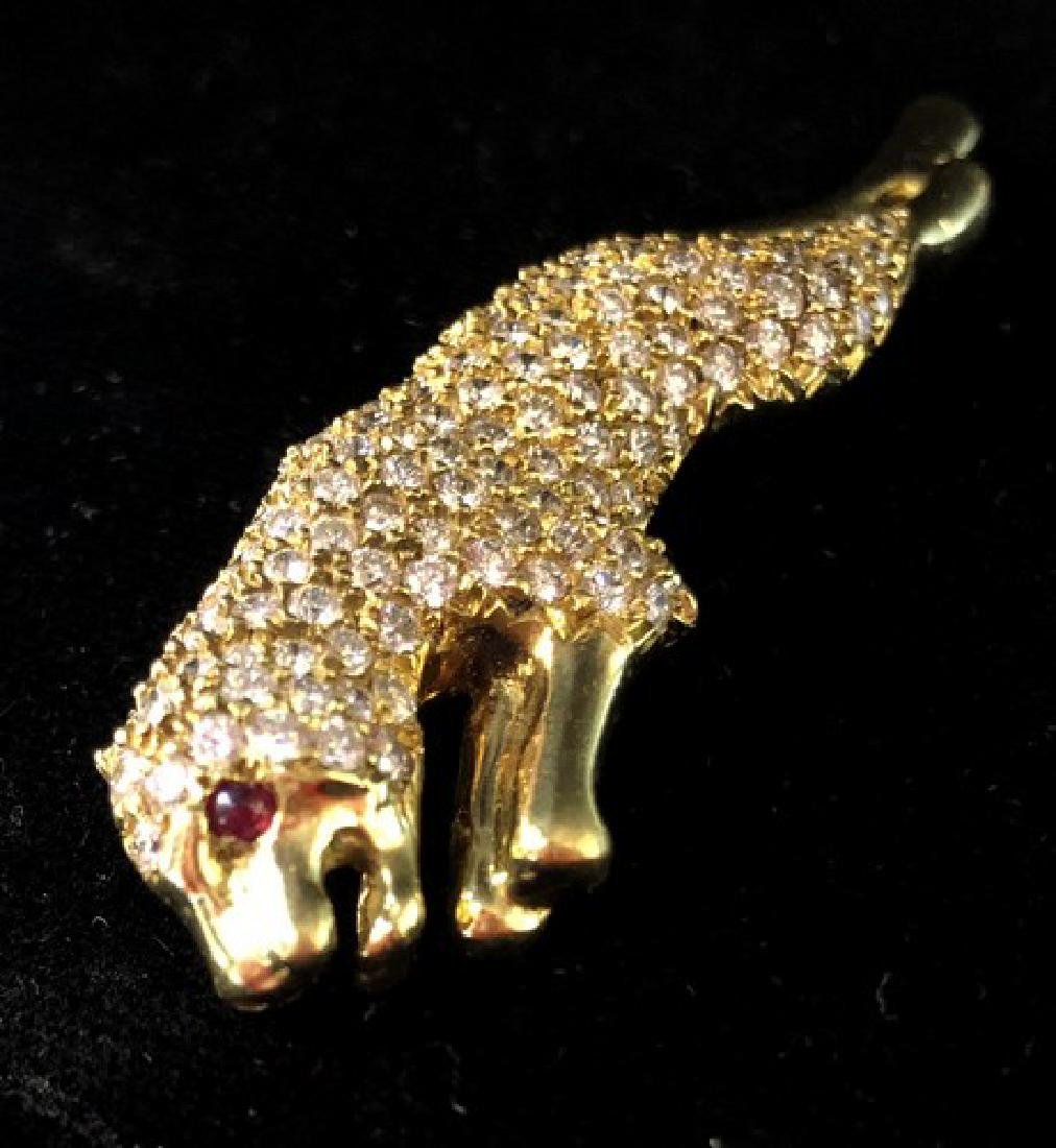 Free Fedx Cartier Designer Pendant in 18K Gold w.