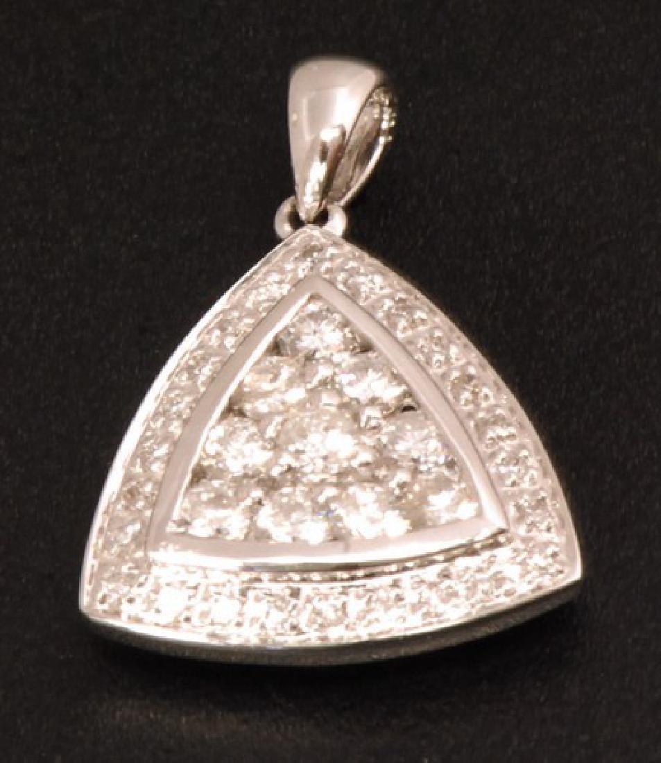 Certified 18K Gold Pendant w. Diamonds