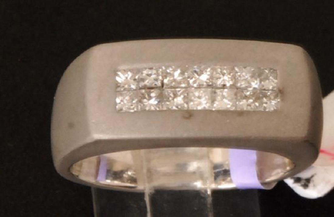Certified 18K Gold Ring w. 1.18cts Diamonds, 15gr