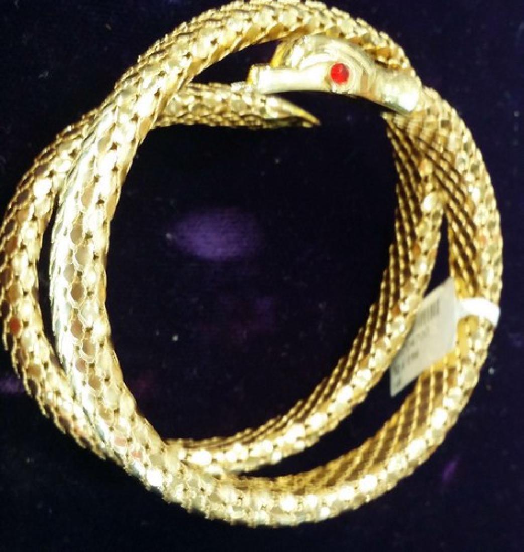 Italian 18K Gold Cleopatra Snake Bracelet (Estate)