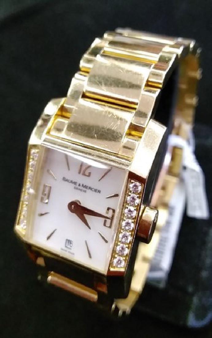Ladies 18K Gold Baume & Mercier Watch w. Diamonds