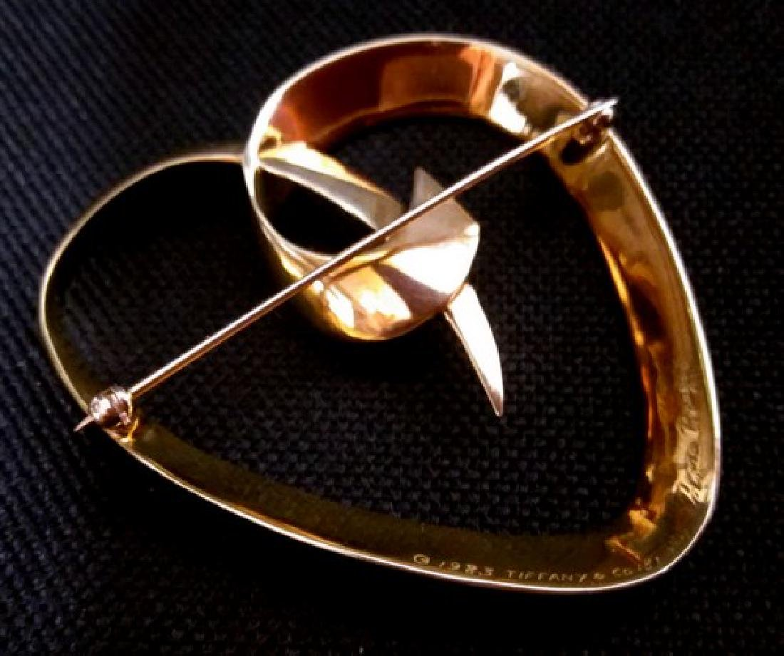 Tiffany & Co by Picasso Signed Brooch c1983 of 18K Gold
