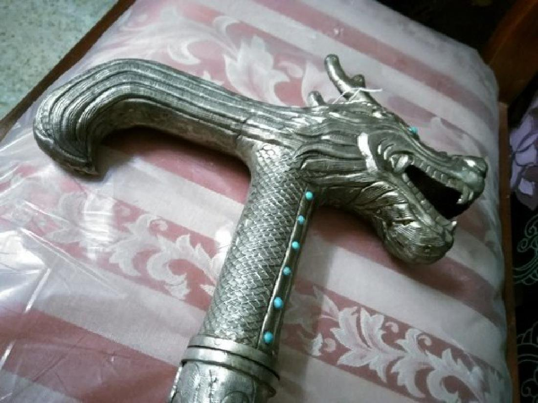 Antique Japanese Silver Dragon Cane