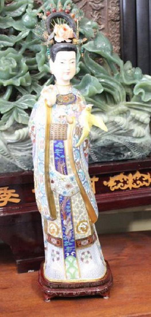 Beautiful Bejeweled Chinese Fairy Statue