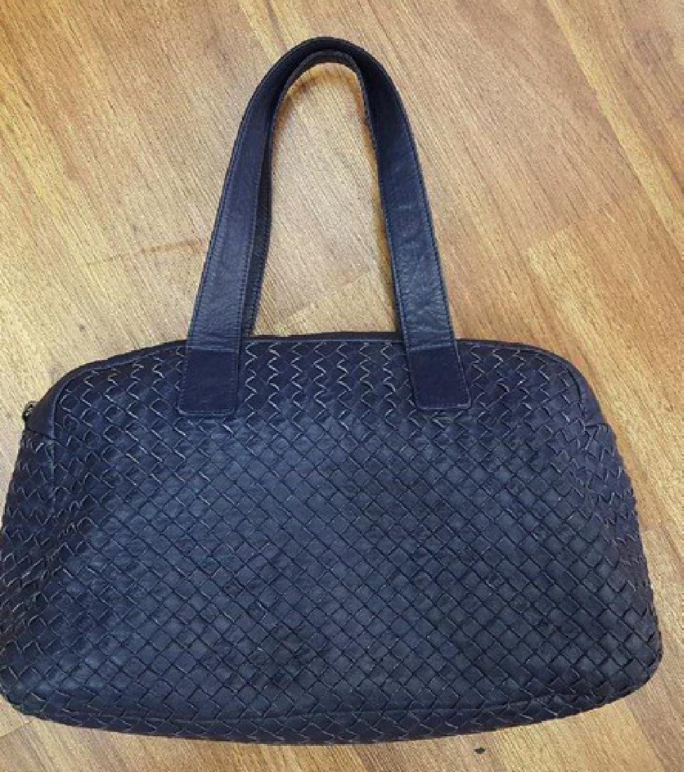 Authentic Blue Bottega Veneta Designer Luxury Handbag