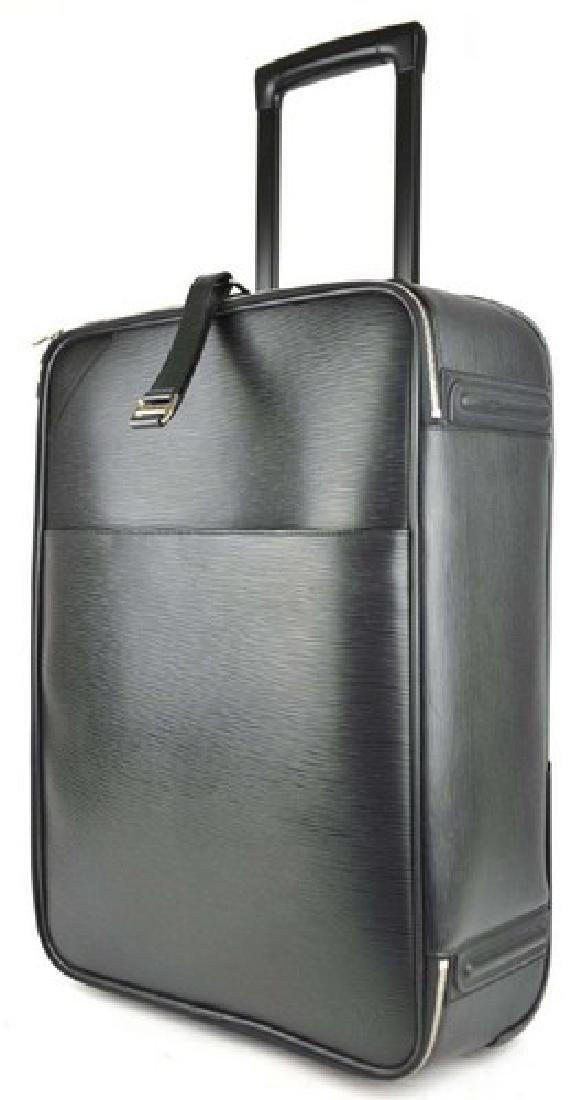 Authentic Louis Vuitton Luggage Black Epi Pegase 55