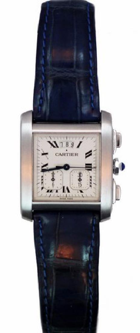 Cartier Tank Francaise Chronoflex Chronograph