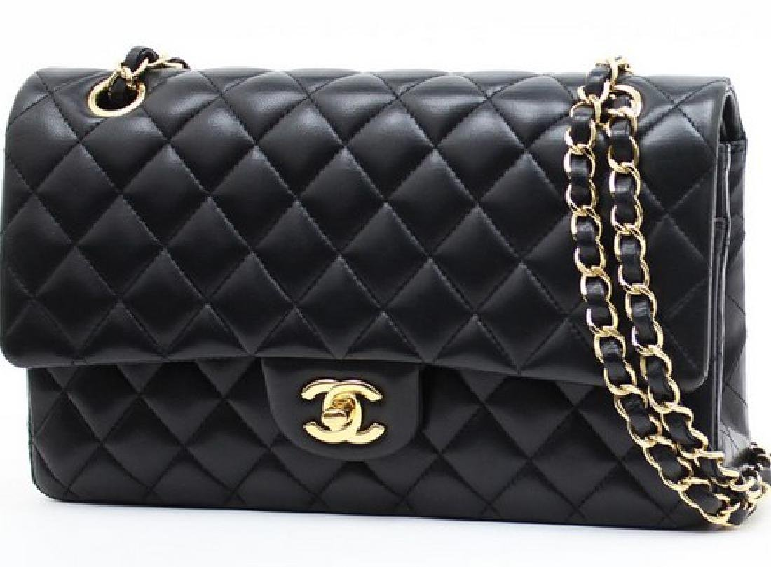 Chanel Black Classic Jumbo Handbag