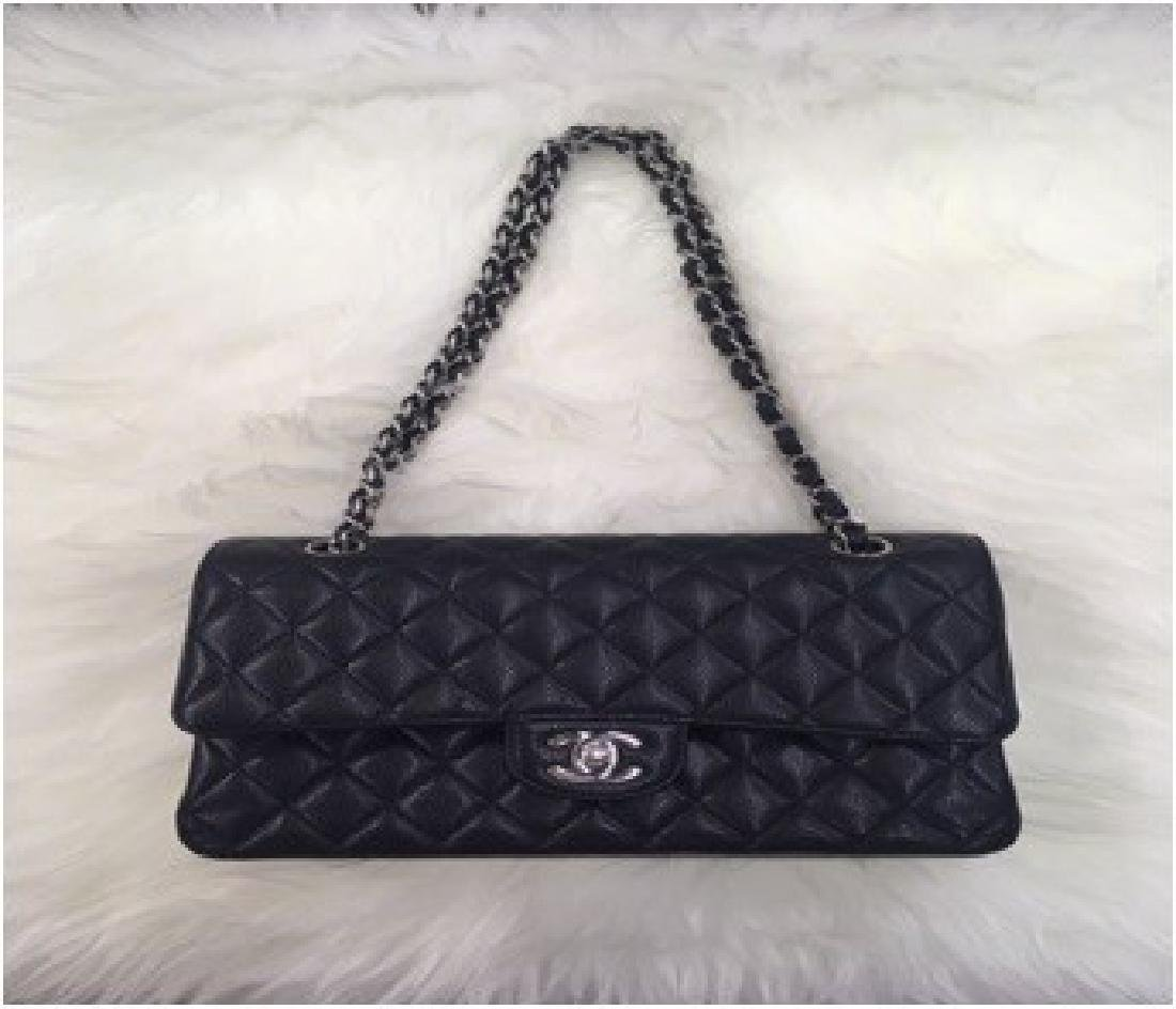 Chanel Cavier Quited Medium Double Flap Black