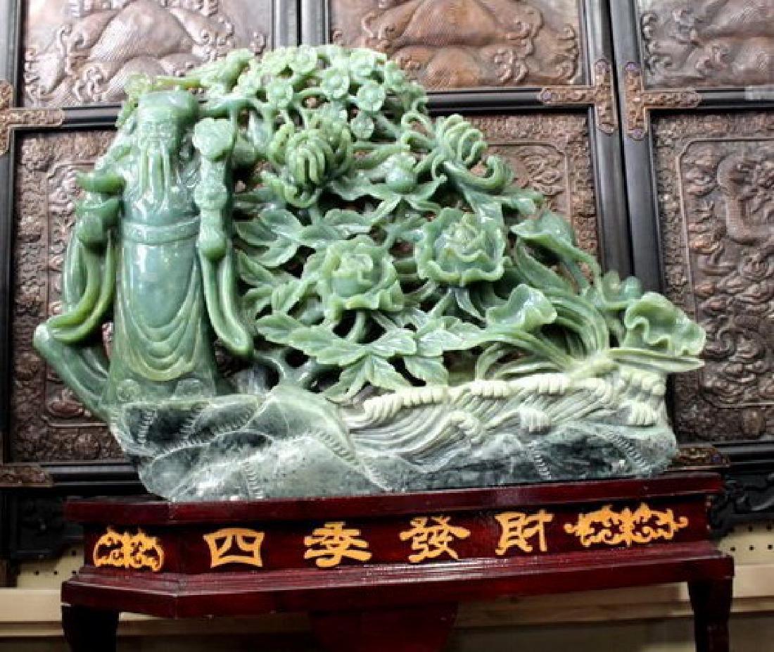 Huge Chinese Jade Sculpture