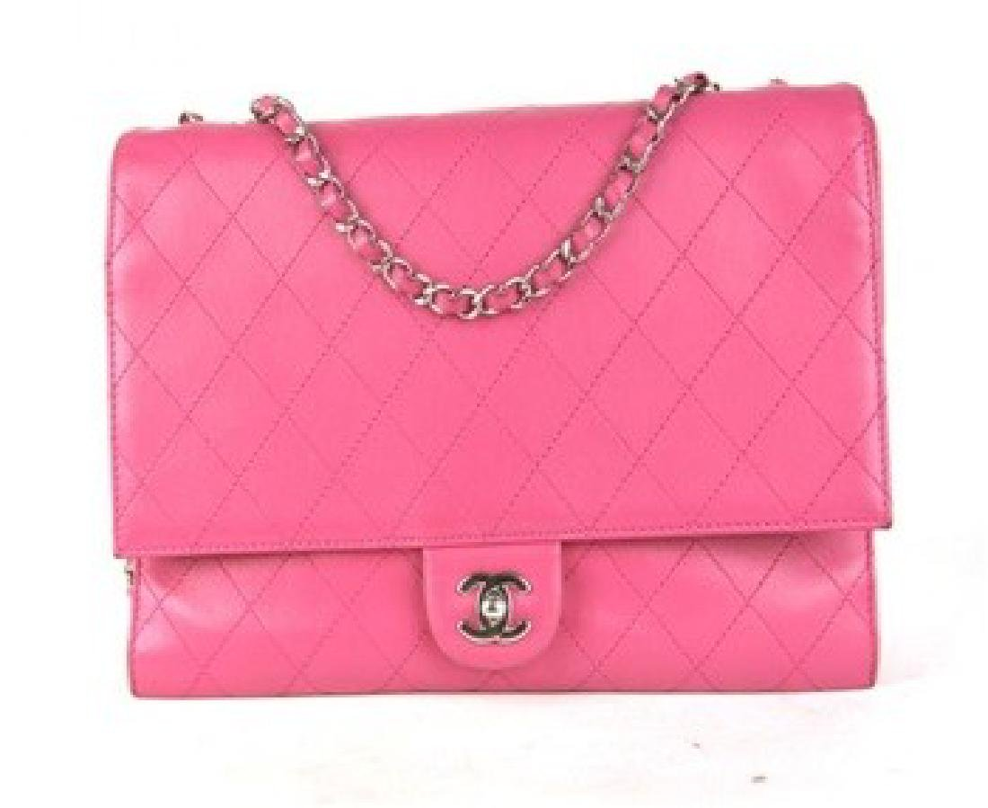 CHANEL Handbag Double Flap Bubble Gum Pink