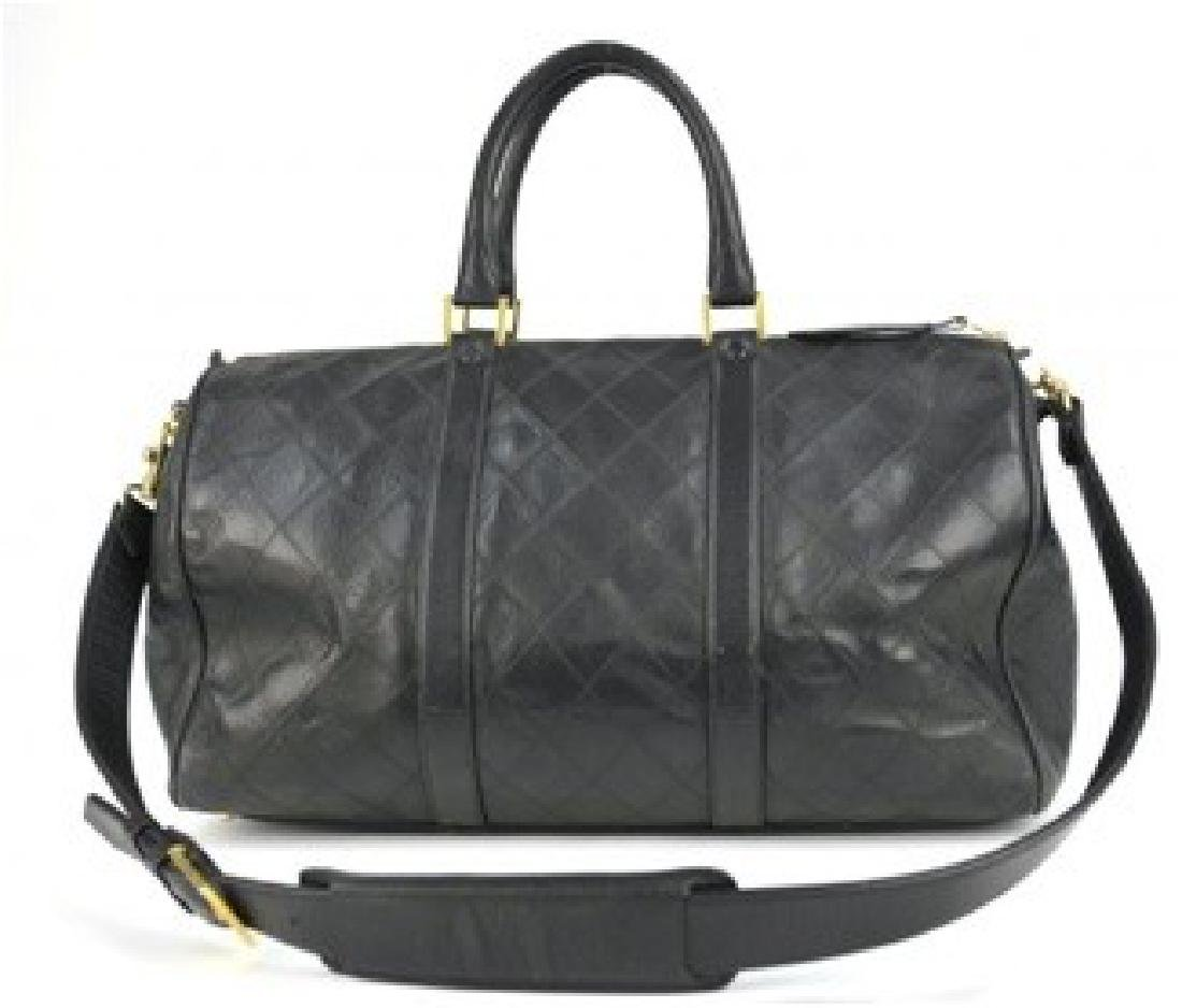 CHANEL Handbag Vintage Quilted Duffle Bag