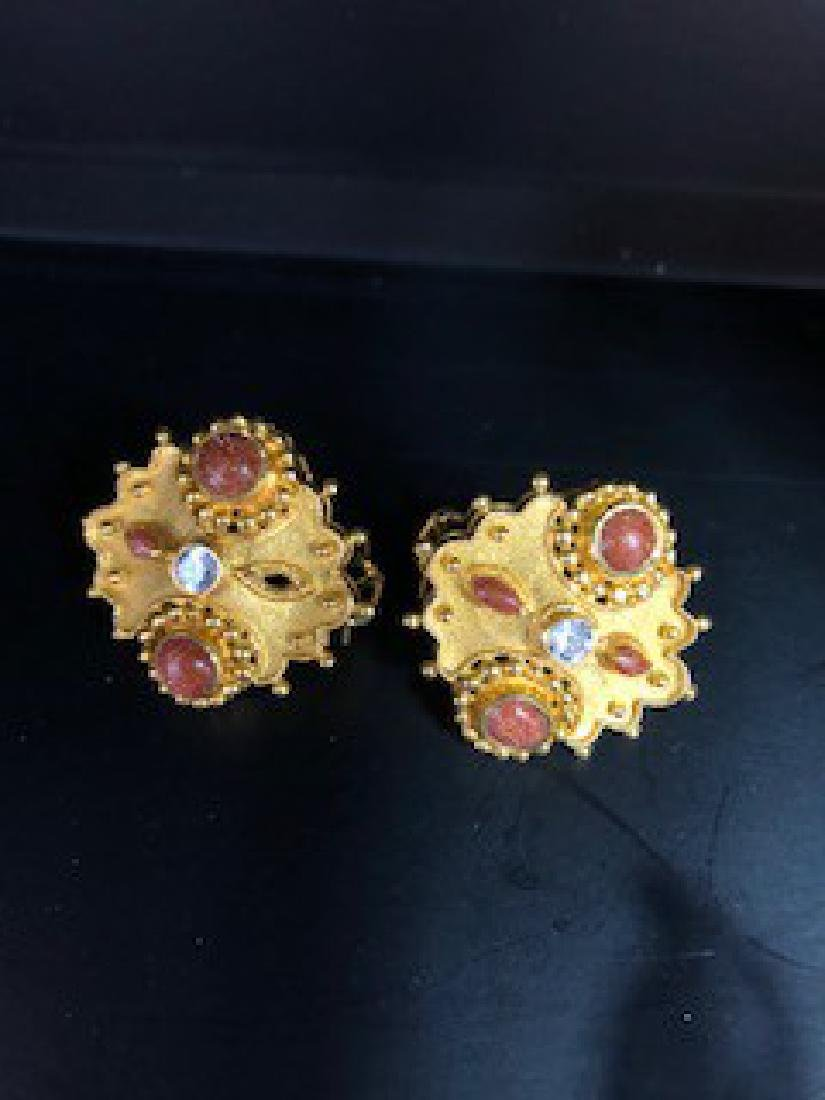 Antique 22K Gold Earring Clips